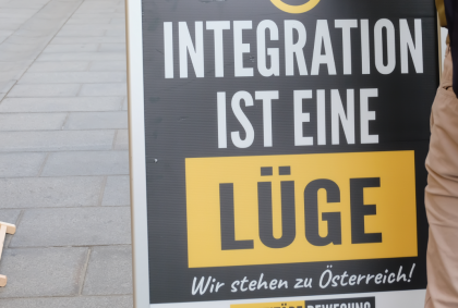 Indentitäre-Plakat-Graz