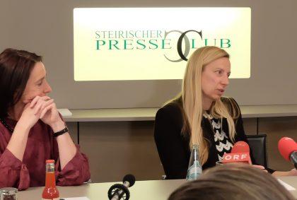 Siegrid-Hroch-Juliane-Bogner-Strauß-steirischer-Presseclub-Tisch