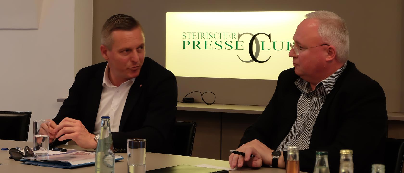 Mario-Kunasek-Heinz-M-Fischer-im-Infight-Tisch-Presseclub-Graz