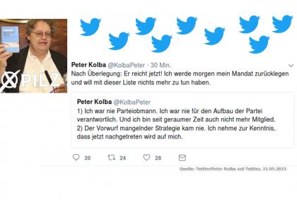 Peter Kolba-Rücktritt