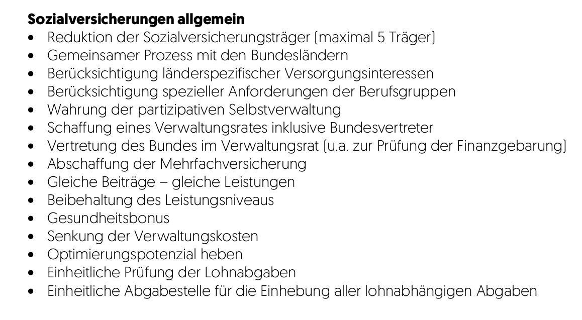Sozialversicherungsreform-Österreich-Regierungsprogramm