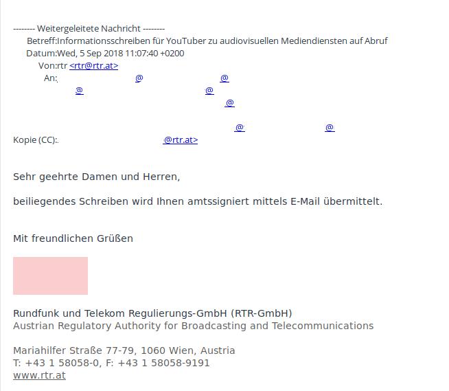KommAustria-DSGVO-Betroffene-Youtuber-Mail-Infoschreiben