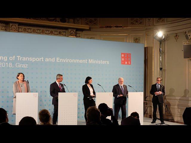 Grazer Deklaration-Pressekonferenz-Bulc-Hofer-Köstinger-Arias Cañete