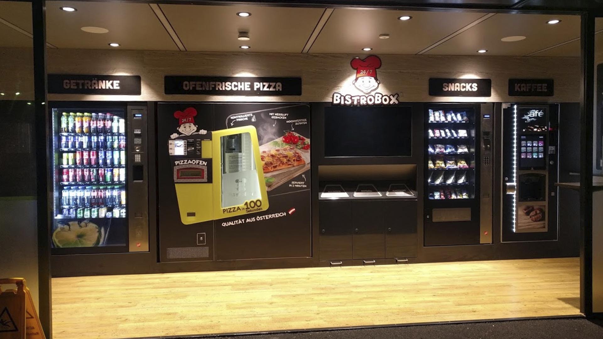 Tiefkühlpizza-Automaten-Restaurant-Bistrobox