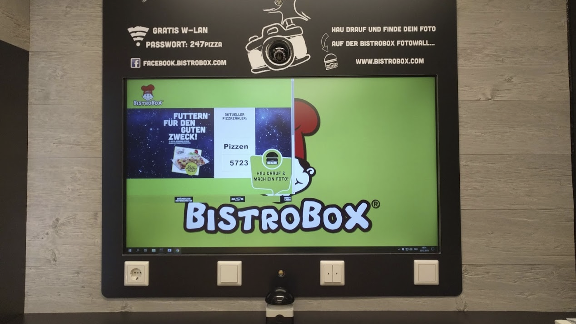 Tiefkühlpizza-Bob-Automat-Mulitmedia-System