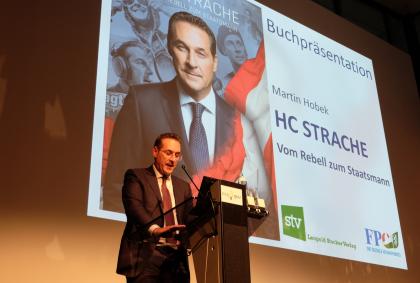 HC Strache-Buchpräsentation