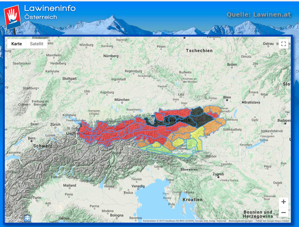 Lawinenwarnstufe-5-Österreich-Google-Maps-Lawinen.at