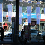Europa-Flaggen-Graz-Hauptbahnhof