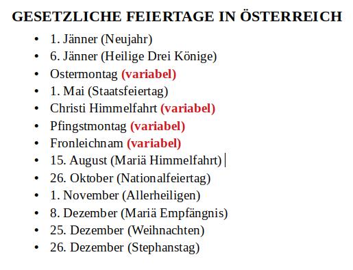 Feiertage-Österreich-Liste-Karfreitag