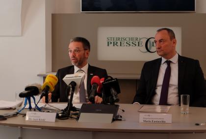 Kickl-Eustacchio-Politik-Polizei-Graz-Österreich-Sicherheit-Schutzzonen