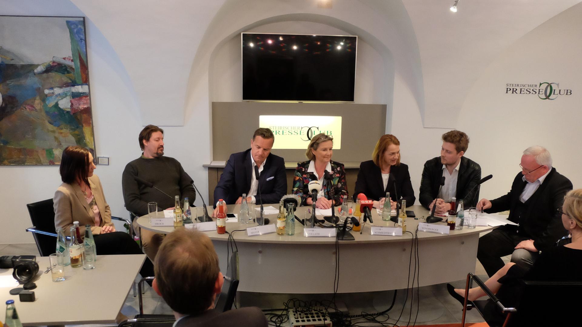 EuWahl-Presseclub-NEOS-GRÜNE-SPÖ-FPÖ-ÖVP-Graz