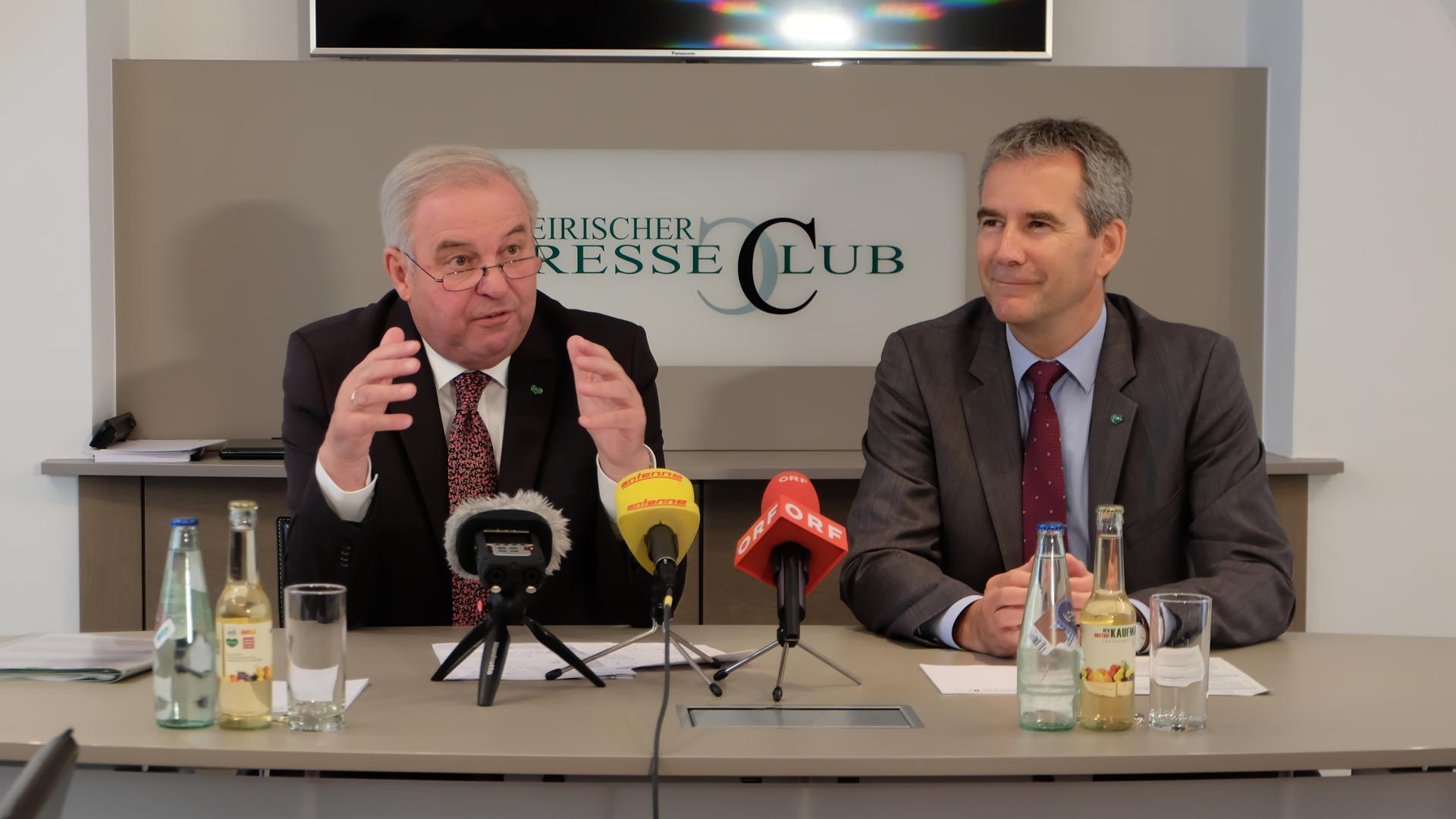 Hermann Schützenhöfer-Hartwig Löger-Finanz-Steiermark-Graz-Steuerreform-Presseclub