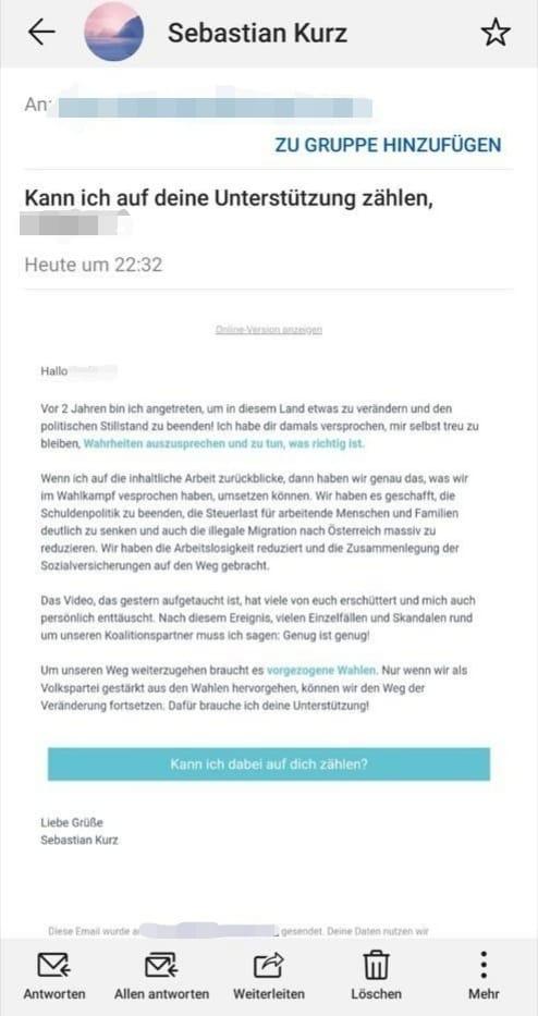 Kurz-Mail-Nationalratswahl 2019-ÖVP-18.Mai 2019