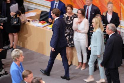 Sebastian Kurz-verlässt-Nationalrat-Wien-Redoutensaal-Hofburg