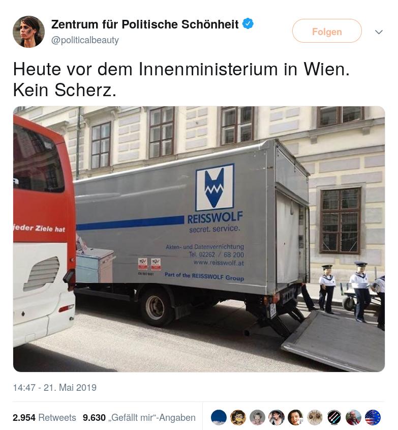 Reisswolf-Innenministerium-Kickl-Entlassung-Ibiza-Politik-Wien-Wiener Sängerknaben
