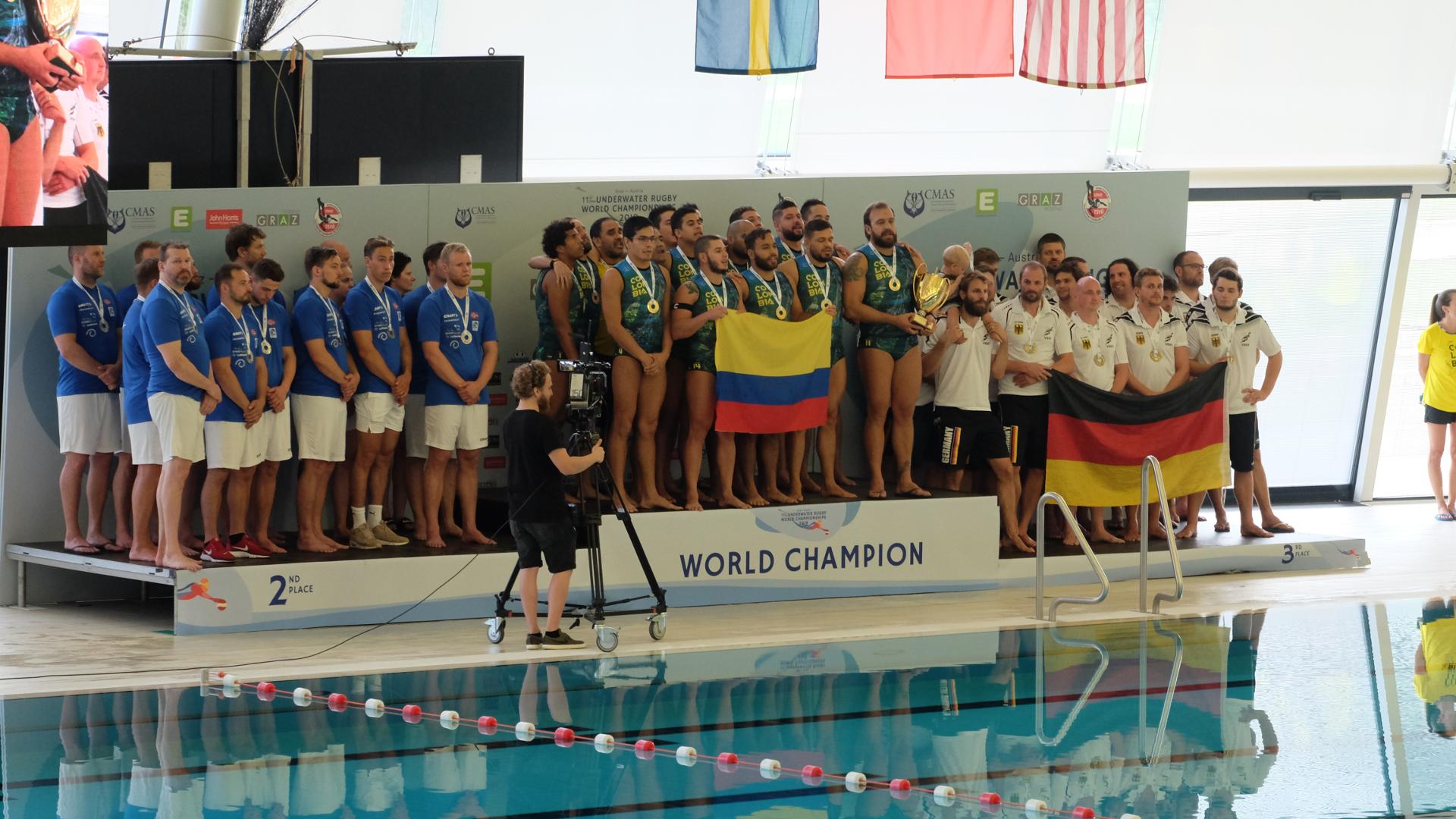 Weltmeister-Unterwasser-Rubgy-Graz-Kolumbien