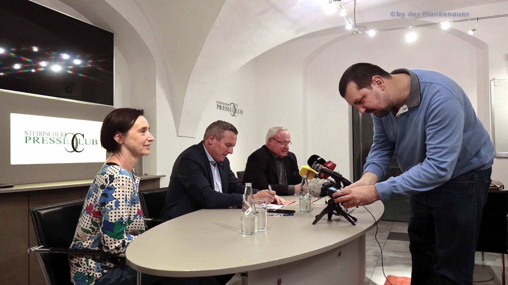 Mario Kunasek-Sigrid Hroch-Heinz M Fischer-Claudio Schiesl-Presseclub-Graz-Landtagswahl-LTW19-Steiermark