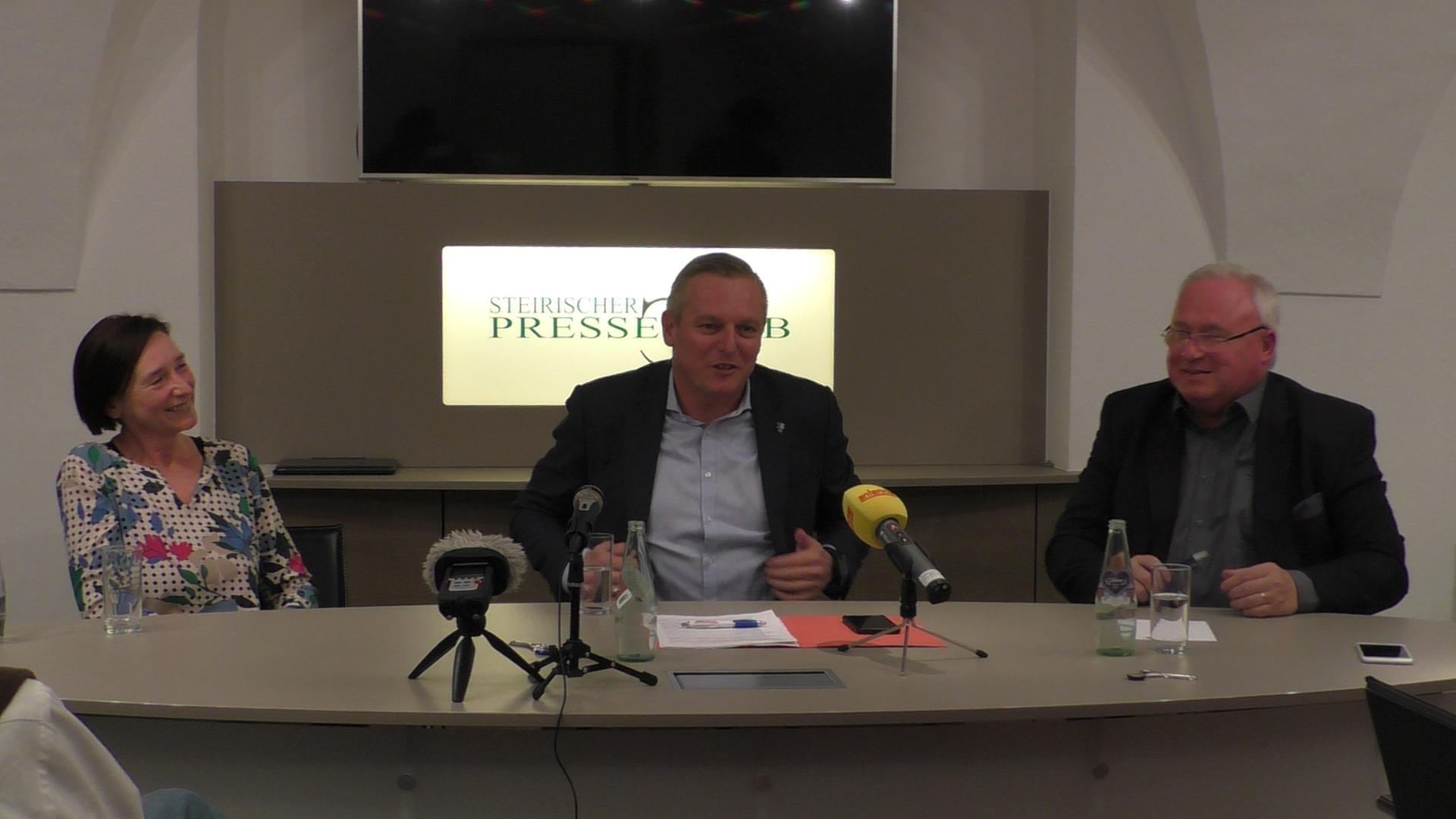 FPÖ-Sigrid Hroch-Mario Kunasek-Heinz M Fischer-Presseclub-Steiermark-Graz