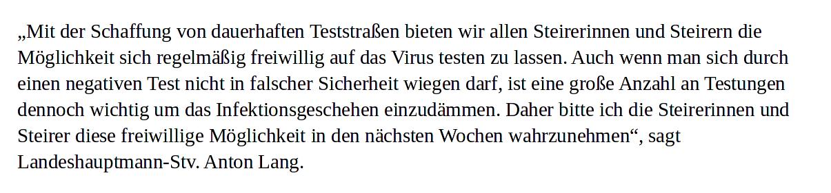 Corona-Dauertests-Stellungnahme-Anton Lang-SPÖ