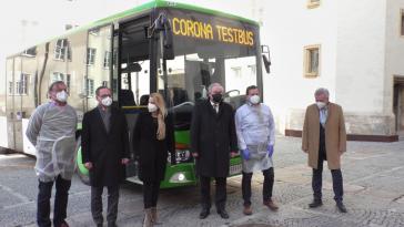 Corona-Testbus-Testbusse-Graz-Politik-SPÖ-ÖVP-Schützenhöfer-Bogner Strauß-Lang-Eitner-Schützenhöfer-Steiermark-Sars-Cov-2-Covid-19-Pandemie-Testen