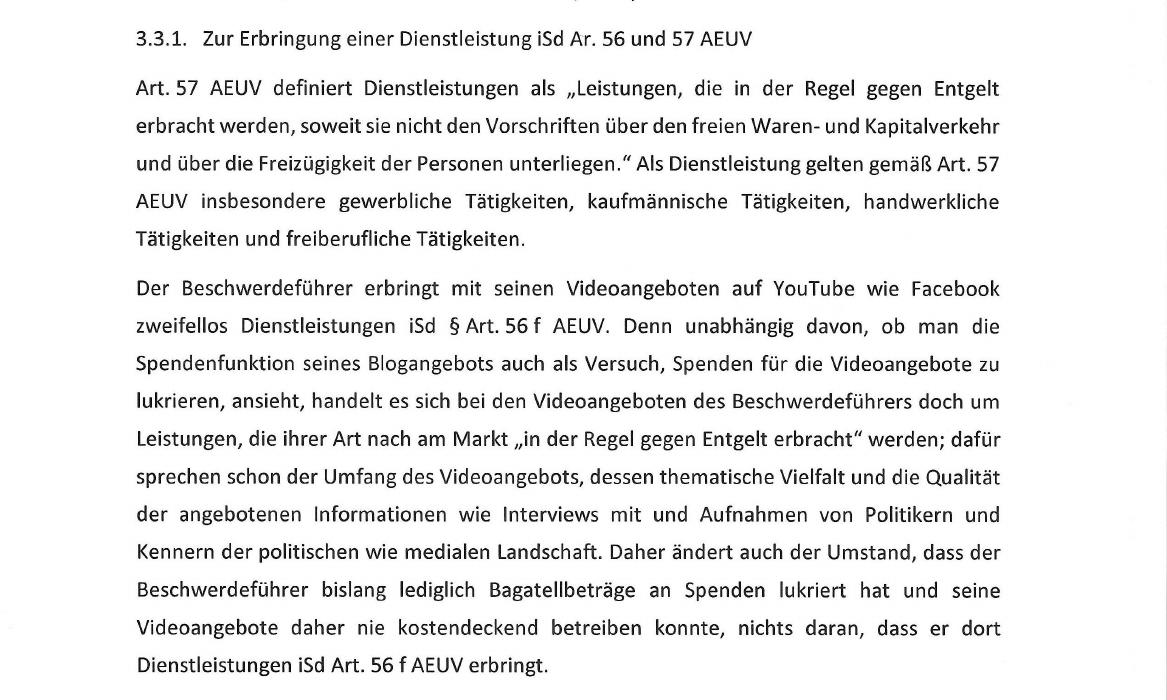 Youtube-Inside Politics-Bundesverwaltungsgericht