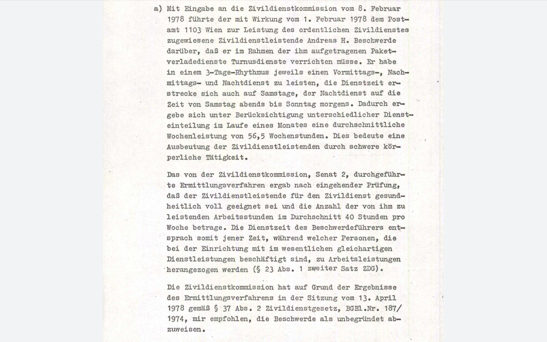 Zivildiener-Post-Paketdienste-Österreich-Parlament-Zivildienstkommission